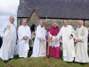 Fr Tom Carney, Fr Ronnie O' Boyle, Right Revd Patrick Rooke Church of Ireland Bishop of Tuam, Killa and Achonry, Dr Michael Neary Archbishop of Tuam, Rev Chris Ginnelly, and Rector  Rev Val Rogers at the Memorial and Healing Service, and the Blessing and Marking of Mission Graves at St Thomas's Church Dugort Achill. Picture; Frank Dolan.