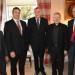 Mgr. John O'Boyle, Chairperson of St. Colman's College, Mr. John Kelly, President, St. Jarlath's College, Mr. Paddy Boyle, Chairperson, St. Jarlath's College, Archbishop Michael Neary, Patron of both diocesan Colleges, Mr. Jimmy Finn, President, St. Colman's College