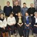 Back Row: Fr. Michael Murphy, Kieran McTighe, Garbally College, Ballinasloe, Canon Brendan Kilcoyne, PP, Athenry, Arnold, Garbally College, Archbishop Michael Neary, Roy Hession, St. Colman's College. Front Row: Niamh Flanagan, Glenamaddy Community School, Ciiona Feerick, St. Jarlath's College, Kate Liffey, Episcopal Conference, Maynooth, Mary Egan, St. Colman's College, Claremorris, Sr. Margaret Buckley, Organiser, Diocesan Resource Centre, Tuam.