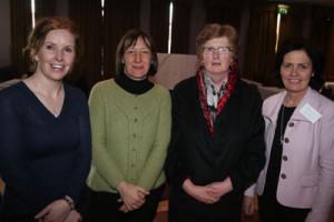 L-R: Patricia McTigue (Balla Secondary School), Carmel Hoade (Garbally N.S.), Maura Finnerty (D.A. Skeghana), Bernie Rowland (Davitt College, Castlebar).