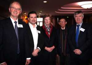 L-R: Jimmy Finn (St Colman's Claremorris), Roy Hession (St Colman's, Claremorris), Maura Finnerty (Diocesan Advisor), Mgr John O Boyle, John McDonagh.