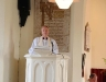 The Right Revd Patrick Rooke, Church of Ireland Bishop of Tuam, Killala, and Achonry speaking during the service in St Thomas's Church  Dugort Achill Co Mayo, where the Memorial,  Healing,  and the Blessing and Marking of Mission Graves took place on last Saturday. Picture; Frank Dolan.