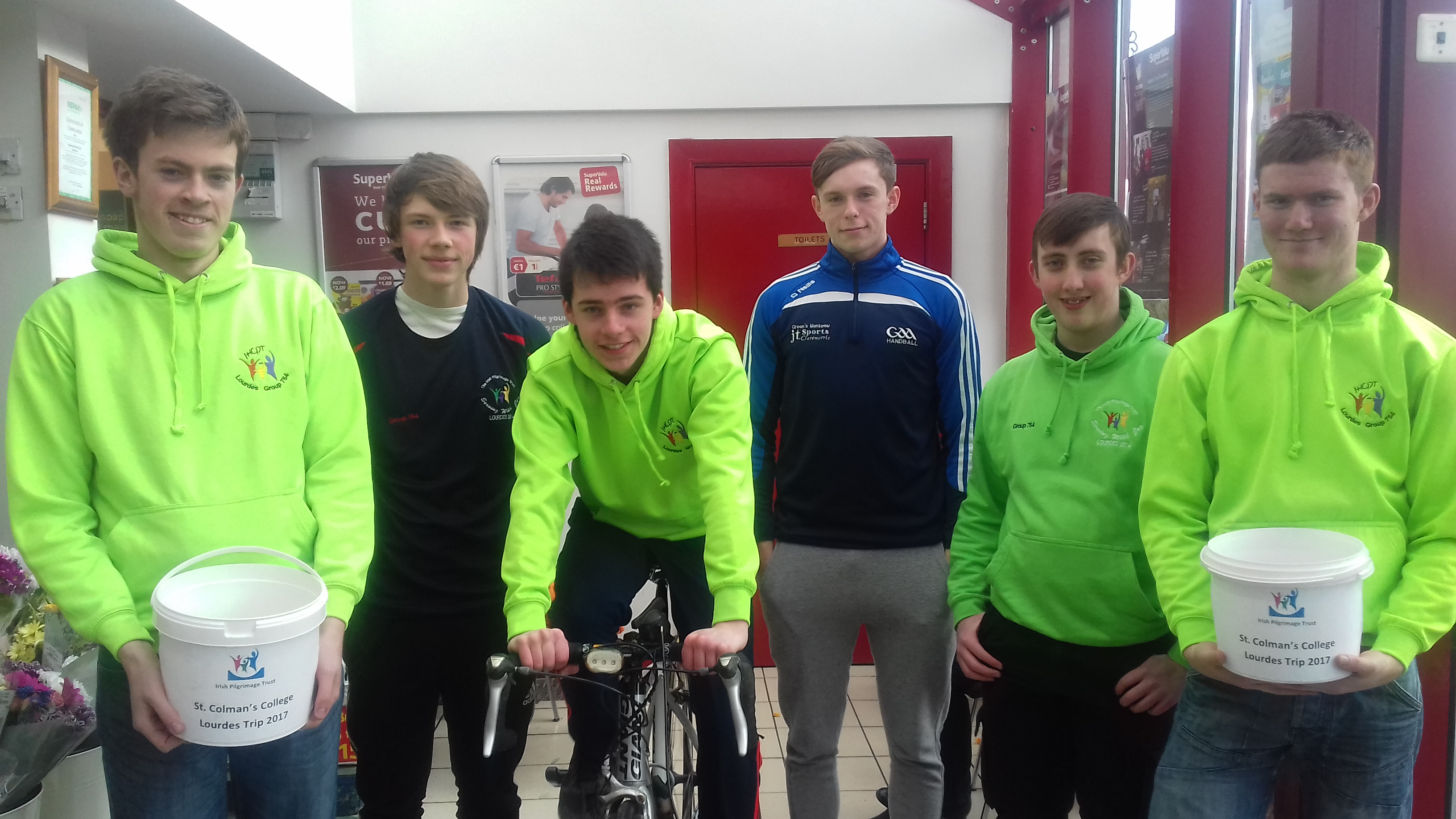 5th Year students from St.Colman's College getting ready for Lourdes.