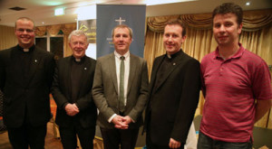 L-R: Rev Shane Sullivan (Secretary, Council of Priests), Most Rev Michael Neary, Rev Sean Cunningham (Chairperson), Rev Miche‡l Mannion (Treasurer).