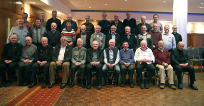 Back row L-R: Michael Murphy, John O Gorman, Hughie Loftus, J.J. Cribbin, M‡irt'n î Conaire, Tod Nolan, Ronnie Boyle, Patrick Burke, John Walshe, Sean Cunningham. Middle row L-R: Stephen Farragher, John Murray, Denis Carney, Miche‡l Mannion, Martin O Connor, Tony King, Joe O Brien, James Quinn, John Kenny, Declan Carroll, Ray Flaherty, Shane Sullivan. Seated L-R: Joe Feeney, Kieran Burke Austin Fergus, Gerry Burns, Des Walshe, Dermot Moloney, Pat Donnellan, John O Boyle, Tony Neville, Padraig O Connor, James Kelly.