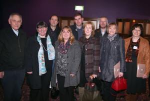 L-R: Fr Paddy Gilligan PP (Cong), Kathleen Smyth (Dookinella, Achill) Fr Fergal Cunnane PP (Dunmore), Jacinta Gallagher (Achill), Fr Patrick Burke (Knock), Mary McNamara (Achill), Fr Declan Carroll PP (Parke), Irene Gielty (Achill), Christine Gordon (Crimlin N.S.)